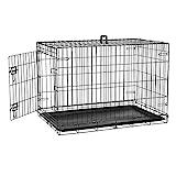 Defacto HundeKäfig Tierkäfig Tier 2 Türen faltbar Hundebox Gitterbox Transport Käfig Drahtkäfig S-XXL DF-HB005 (L)