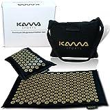 KAMASPORTS Premium Akupressurmatte mit Kissen und Tasche - Akkupressmatte in Geschenkbox - Massageset Fakirmatte Yantramatte Nagelmatte für Akupressur