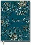 Notizbuch A5 liniert [Goldblüte] von Trendstuff by Häfft | 126 Seiten, 63 Blatt | ideal als Tagebuch, Bullet Journal, Ideenbuch, Schreibheft | nachhaltig & klimaneutral