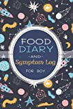 Food Diary & Symptom Log for boy: Food Allergy Tracker and Personal Symptoms Record Log|Activity book|Food Intake Management Diary Journal for Sensitive Kids: Space Ship Pattern Cover