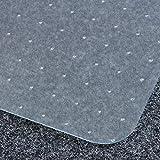 Certeo Bodenschutzmatte | BxH 92 x 122 cm | PET | Teppichboden | Transparent | Stuhlunterlage Bürostuhlunterlage Bodenschutz S