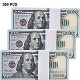 Chinco 300 Stücke Kopieren Geld 100 Dollar Bills Prop Scheine Doppelseitig Gedruckt Gefälschte Scheine Pädagogisch Spielen Geld für Film Bild Partei Prop Vorräte