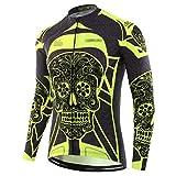 Herbst Vollärmel Radtrikot Wear Shirt Radbekleidung Herren Fahrradshirts Schnelltrocknend Fahrradtrikot Sport Lange Radshirt LJ-003 XS