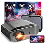 Beamer Full HD WLAN Bluetooth - Artlii Energon2 8000 Lumen Native 1080P Projektor Beamer WiFi Unterstützt 4K, 300' Display und 60% Zoom für TV Stick iOS/Android Phone Sw