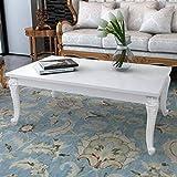 vidaXL Couchtisch Wohnzimmertisch Kaffeetisch Tisch 115×65×42 cm Hochglanz-Weiß