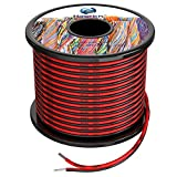 20awg 2x0,5mm² Silikon Elektrischer Draht Kabel sauerstofffrei hochtemperaturbeständiger verseilter verzinnter Kupferdraht, 2x30 Meter