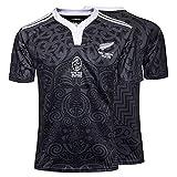 Rugby-Trikot, 2019 Neuseeland Maori All Blacks Rugby-Poloshirt, Rugby-T-Shirt zum 100. Jahrestag, Supporter Football Sport Top-100thanniversary-XL