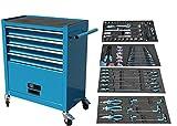 NTG Werkstattwagen Werkzeugwagen Werkzeug Rollwagen 4 Schubladen inkl. Werkzeug