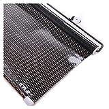ALGFree Wagen Sonnenschutz Automatisches Rollo Sonnenschutz Wärme Isolieren Automatische Skalierung Sonnenschutz Windschutzscheibe Markise Einstellbar Vorhang (Color : Schwarz, Size : 40x60cm)