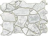 Concord Wallcoverings 3D Wandpaneel grau grob Stein Design Muster erhöhte Textur wasserdicht und feuerfest PVC Größe 59,9 cm breit 44,1 cm hoch 562WG (6)