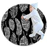 Runde Spielmatte Krabbelmatte Krabbelmatte klimatisierter Teppich, Kleinkinderzimmer für Kinder, Boho Bohemia Black W