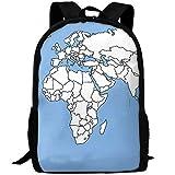 Weltkarte Geografische Erwachsene Reise Rucksack Schule Bookbag Casual Daypack Oxford Outdoor Laptop-Tasche Computer Umhängetaschen