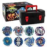Gyro Burst Kreisel,8 Stück Gyro Burst Starter Kampfkreisel Set, 4D Fusion Kreisel Kinder Spielzeug Mit Zweizeiligem Sender Und Sendergriff