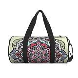 Runde Sport-Turnbeutel, Blumen-Mandala-Handtasche, Yoga-Tasche, Schultertasche, Wochenendtasche, Reisetasche, Gepäck, Seesack für Damen und Herren