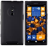 mumbi Hülle kompatibel mit Nokia Lumia 830 Handy Case Handyhülle, schwarz