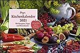 Heyes Küchenkalender Broschurkalender XL 2021 - mit großem Saisonkalender-Poster, Rezepten, Tipps und Warenkunde - Wandkalender mit Monatskalendarium ... - Format 45 x 30 cm (45 x 60 cm geöffnet)