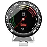 Silit Sensero Backofenthermometer analog, Ø 6,2 cm, Edelstahl, Glas, hitzebeständig bis 250°C