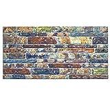 IZODEKOR Wandverkleidung Steinoptik Styropor 3D Wandpaneele - Verblender Steinoptik für Küche, Badezimmer, Balkon, Schlafzimmer, Wohnzimmer, Küchenrückwand und Teras | Hinterhof