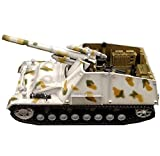 LHJCN Maßstab 1:72 Diecast Panzer Plastikmodell, WWII Deutschland Hummel selbstfahrender Artilleriepanzer, Militärspielzeug und Geschenke