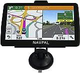 Bluetooth Navi (17,8 cm) UK Europa Edition 2021 (kostenlose lebenslange Updates) GPS-Navigation für Auto, LKW, LKW, Wohnmobil, mit Postleitzahlen, Fahrerwarnungen, Fahrspurführung und POI