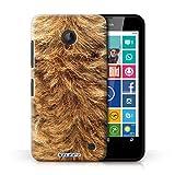 Handy Hülle kompatibel mit Nokia Lumia 630 Tierpelz Muster Hund Transparent Klar Ultra Dünne Handyhülle Case Cover