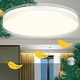 Deckenlampe LED Flimmerfreie 24W LED Deckenleuchte Flach Ultra Dünn 4000K 2400LM Tomosu Deckenleuchten Kinderzimmer für Wohnzimmer Schlafzimmer Küche Flur Balkon Esszimmer Neutralweiß Rund Ø380*50mm
