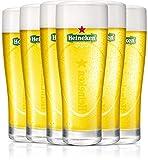 Heineken   Biergläser   6-teiliges Set   Ellipse   25 cl / 250 ml   Grünes Logo   Bier Gläser