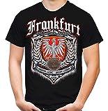 Für Immer Frankfurt Männer und Herren T-Shirt | Sport Fussball Stadt Fan (XL, Schwarz Druck: Bunt)