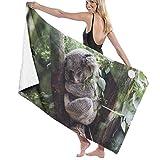 Koala Badetuch für Strand, Spa, Dusche, weich, leicht, bequem, trocknet schnell, 80 x 130