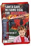 NobleWorks P-XSBOX-RR1 Weihnachtskarten, Rote Rakete 12 Christmas Card Pack (SKU:B1850) Coal for Boxed Set Christmas C