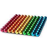 Alpha Magnetkugeln - 100 Stück - 5 mm - Magnete für Glas-Magnetboards, Magnettafel, Whiteboard, Tafel, Pinnwand, Kühlschrank - Magnetkugel mit Box – Regenbogenfarbend