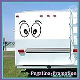 """Hochwertige Wohnwagen / Wohnmobil Aufkleber """" skeptische Augen Modell 2 60x60 cm """" von Pegatina Promotion ®aus Hochleistungsfolie geplottet, auf Montagefolie ohne Hintergrund, Lustige Sprüche, Deko, Dekoration Ihres WOMO WOWA Aufkleber, Fun, Spass, Spassaufkleber, Truck, Urlaub, Van, Wohnmobile, Trucks, Sticker,"""