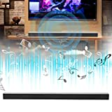 Hoseten Bluetooth Soundbar, Heimkino-TV Soundbar Wandmontiertes Metall mit 4 Klebesäulen für Heimfernsehen(Transl)