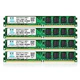 DDR2 800 MHz UDIMM PC2-6300 PC2-6400U 8GB Kit (4x2GB) 1.8V 2Rx8 240-pin DIMM Desktop Arbeitssp