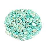 LULIJP Garten-Terrasse Natürlicher blau-grüner Stein 50g 4-6mm Kristall Raue Rock Mineral Probe Steine Dekoration O