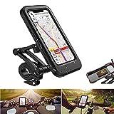 MQJ Bike-Stand, wasserdichter Smartphone-Stand mit Touchscreen, 360 ° -Drehung, höhenverstellbar, geeignet für Mobiltelefone unter 6,7 Zoll, kompatibel mit Fahrrädern und Motorrädern zum Ausflug