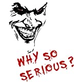 Finest Folia Joker Aufkleber 10x7cm Why so serious Schriftzug Spruch Fahrzeug Dekor Folie für Auto Bus Wohnwagen Kfz Zubehör Autoaufkleber Clown (Schwarz Matt, K059 + K061 Joker mit Schriftzug)