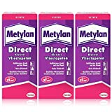 Henkel Metylan Direct Tapetenkleister für Vlies-Tapeten 200g (3er Pack)