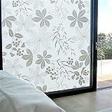 LMKJ Fensterfolie aus PVC-Milchglas, wasserdichter Glasaufkleber, mattierter Aufkleber für die Privatsphäre zu Hause, Haustür und Fensterglasfolie A30 50x100 cm