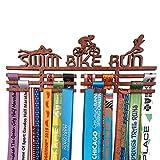 """Medaillen-Aufhänger mit Haken """"Swim Bike Run"""" aus Holz, für Triathlon"""