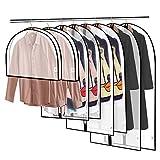 king do way Kleiderhüllen Staubdichte Kleiderhüllen Mottenschutz Manteltasche mit Reißverschluss 60 x 120 + 60 x 100