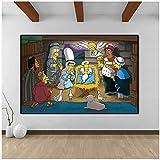 Tbdiberc Simpson Leinwandbilder Kunstplakate und Drucke Filmfotos Wandkunst Leinwand Wohnzimmer Hängende Wandbilder für Kinderzimmer Dekor-60x100cmx1 Kein Rahmen