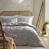 Appletree Loft – Lumina – Bettbezug-Set aus Baumwolle – King-Size-Bett – Silber