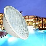 KWODE LED Poolbeleuchtung, 36W PAR56 Scheinwerfer Unterwasser LED Beleuchtung,IP68 Wasserdicht Poolscheinwerfer 12V LED-Poolleuchten 6000K Kaltweiß Pool Light…
