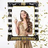 Gitua Aufblasbarer Bilderrahmen, Geburtstagsfeier Photo Booth Requisiten für Jungen und Mädchen Geburtstag Party Deko(18th Birthday)