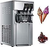 YHX Eismaschine Maschine, Macht KöStliche Softeis, 3l, Vertikale Softeismaschine 5,3 Bis 7,4 Gallonen Pro Stunde, Leicht Zu Reinigen