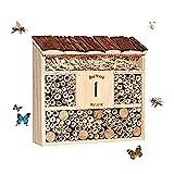 Insektenhaus, Hängendes Insektenhotel, Bienenhaus, Schmetterlingshaus, Holz, 30 x 28 x 9,5 cm, Garden Garden R