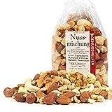 Nuss Mischung 1000 Gramm natur, Cashewkerne, Walnüsse, Erdnüsse, Mandeln, Haselnüsse, ungesalzen, ohne Zucker - Bremer Gewürzhandel