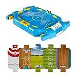 ZXQZ Tischfußball, 7-in-1, Multi-Sport-Spieltisch, Indoor-Fußball, Bowling, Hockey, Golf, Basketball, Billard, Tischplatte, für Kinder, Familie, Spaßraum, Arcade-Tischspiele