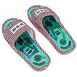 YTWD Akupressur Massage Hausschuhe, Magnetfeldtherapie Akupunktur Akupunkt Massage Schuhe, Fuß entspannende Massage - Unisex, Frauen ~ Pink